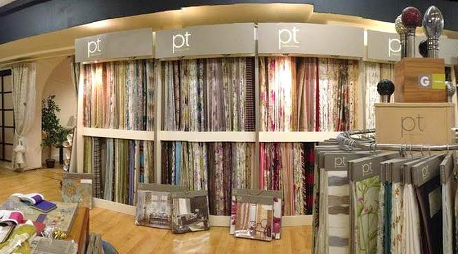 Devine curtains blinds newport about for Curtain display ideas